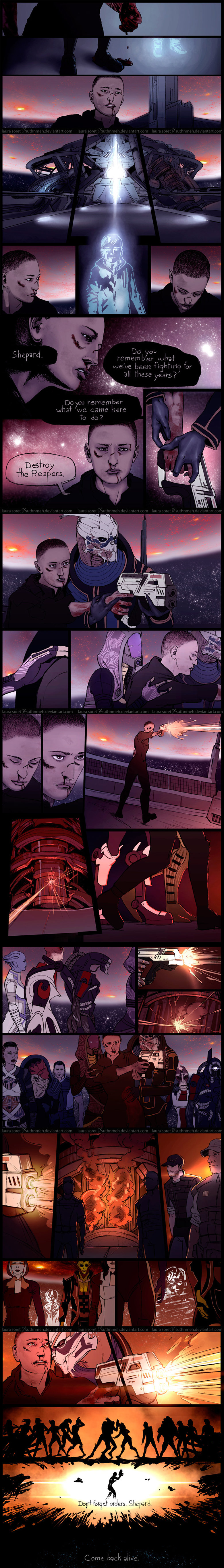 Mass Effect - Ending Feels. Artist's main page: http://suthnmeh.deviantart.com/ Complied by me Enjoy with the sound of: .. I cried. that was awesome.