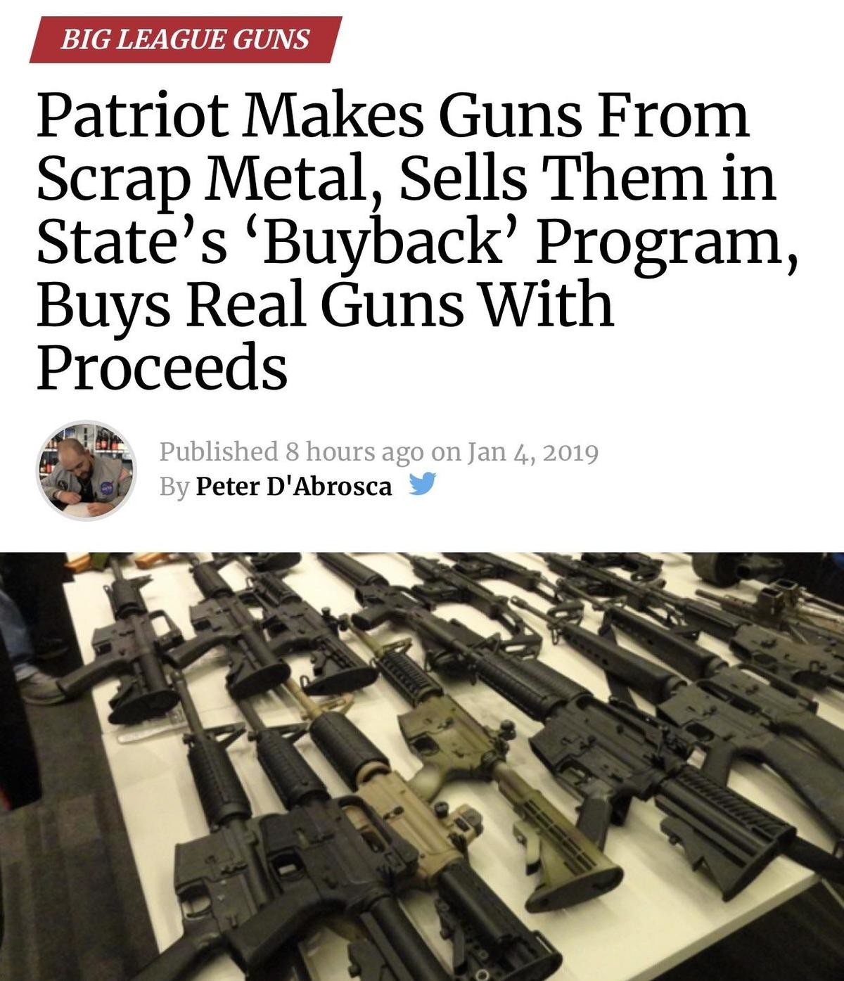 "material cool aboard Buffalo. .. Libs: ""See, this gun buyback program will help get rid of guns without lifting a single finger. People love money after all!"" Gun Owners with access t"