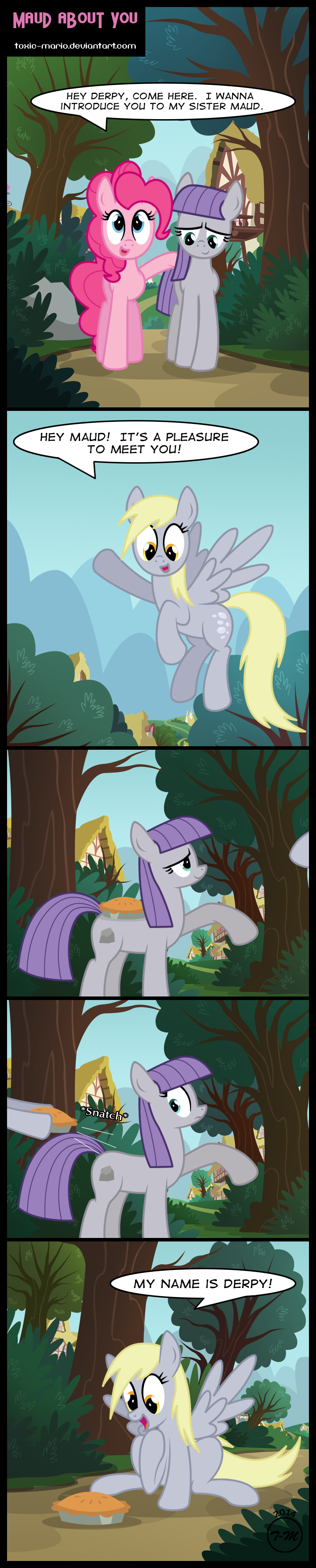Maud About You. Pre episode comic on Maud Pie episode. On my deviantart. http://toxic-mario.deviantart.com/art/Maud-About-You-440514066.. Maud looks way too happy...