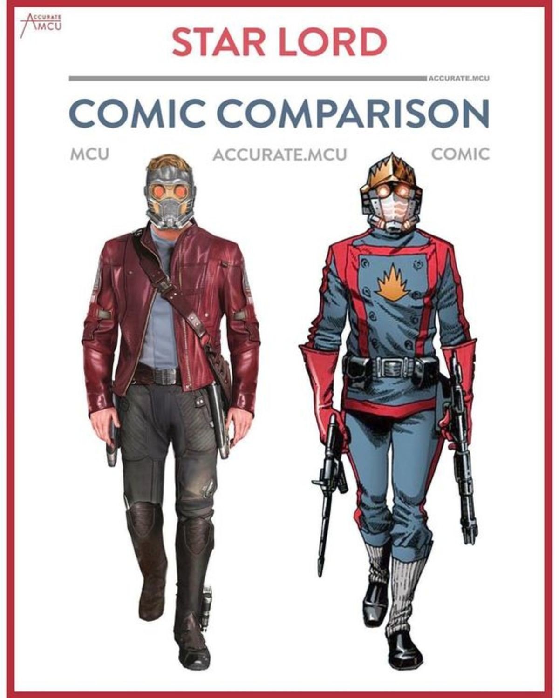 MCU vs COMIC: GOTG edition. . COMIC Ely, OCCUR/. Correction