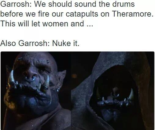 """Me-evil me. . Garreth: We mould the drums beware we fire em can """"l' iaio' i'' itkill This will let wemen and """""""" Also (Barrow: Nuke it."""