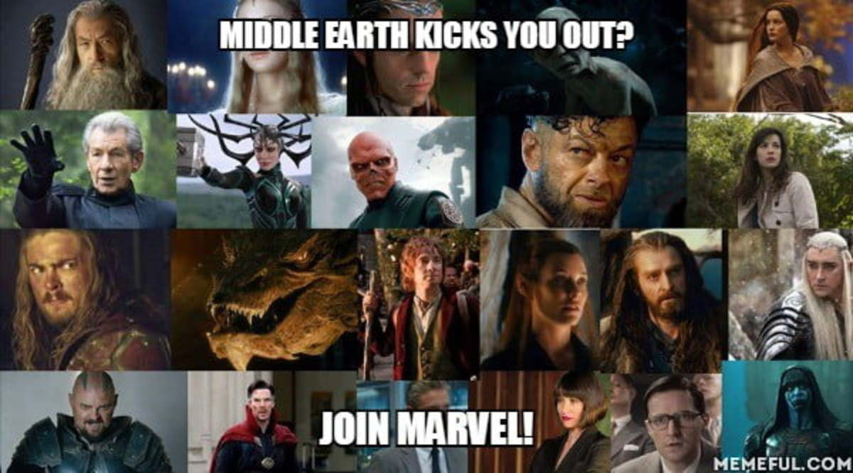 Middle earth kicks you out? Join Marvel!. .. Who was benedict cuminmysnatch in lord of the rings?