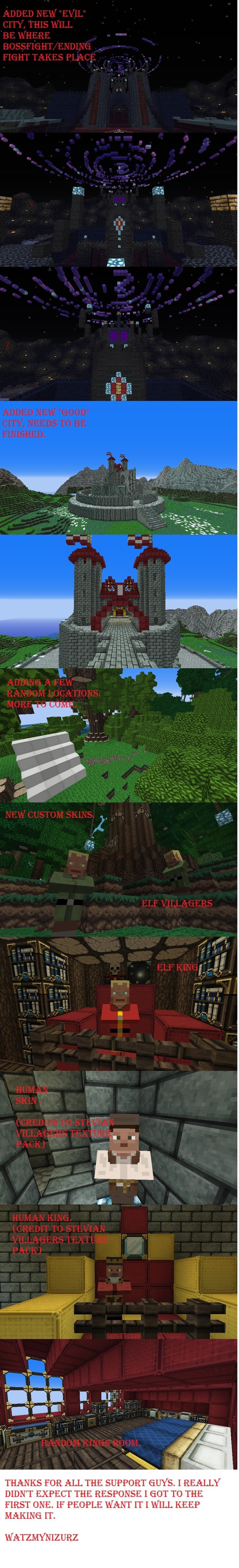 "Minecraft RPG adventure Comp 2. HAI GUISE. Thanks for all the support on the first one. It inspired me to continue, Credit to ""Stevian skins texture pack f"
