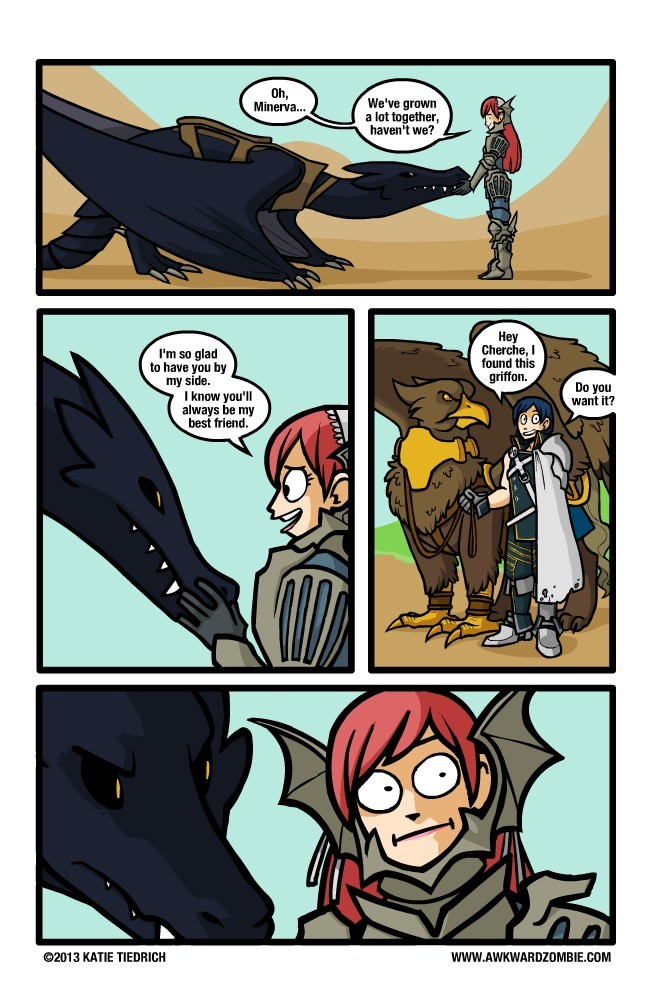 Minerva. .. >Trading a wyvern for a griffin