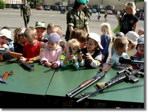 mom can i have the ak-47. .. They are the RADDEST KIDS EVER!!!