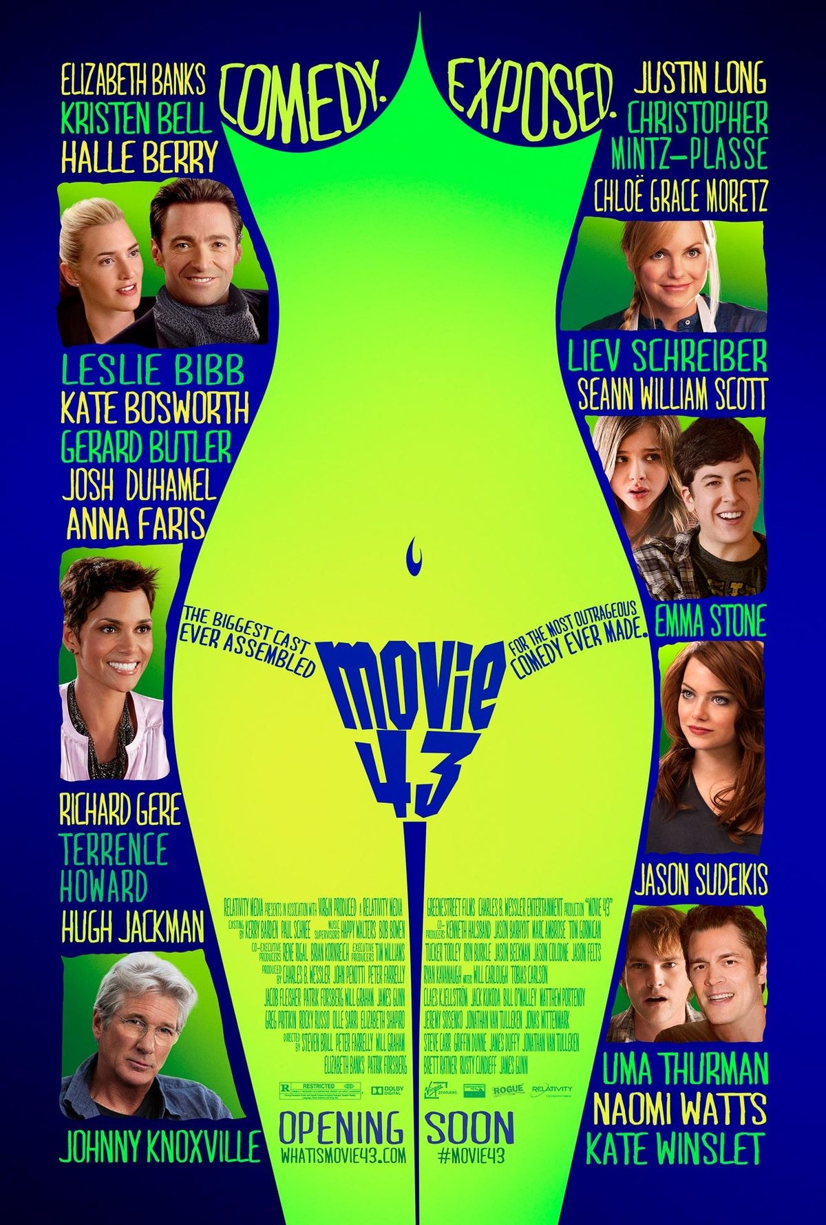Movie 43: It is 34. In advance, if a mod wishes for this to be moved to , I will allow it. I don't lie on this channel, and will not be showing any of the conte