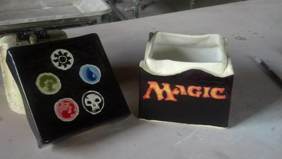 MTG Box. Made by my mom. She teaches pottery at her studio. What do y'all think?.