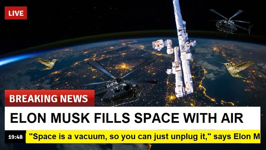 Musk air. .. So will Musk just share space, or will Space Force have to lock tusks with the Musk?