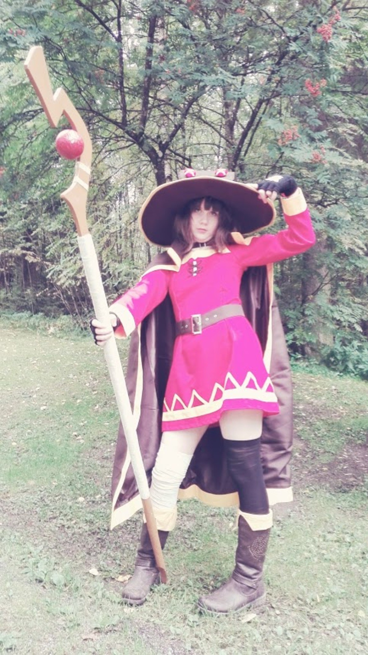 My Megumin cosplay. So I was cosplaying Megumin this weekend, so I decided to post the pictures again. It was damn fun. Hope you guys enjoy the pictures! c:.. I made a thing