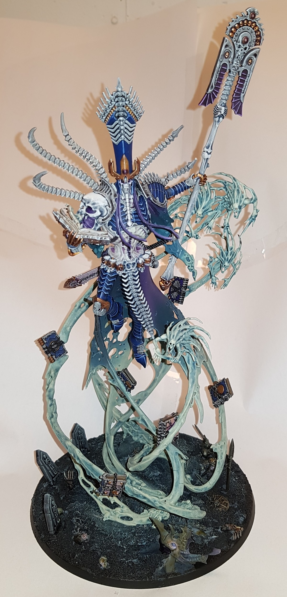 Nagash. Finally finished my Nagash model. Bought it back in 2014, realized my skill level wasn't enough for it at the time, ended up sitting in a box for years.
