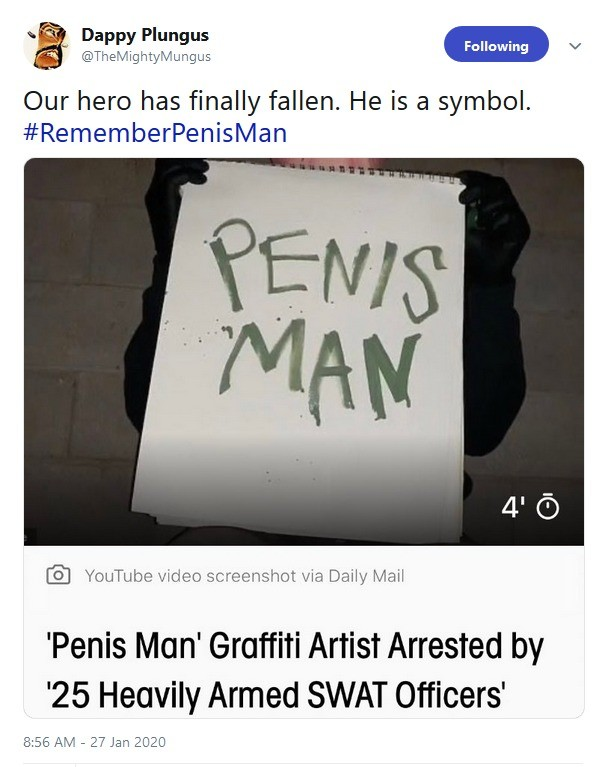 Never Forget. .. Was his penis so huge that they needed swat?
