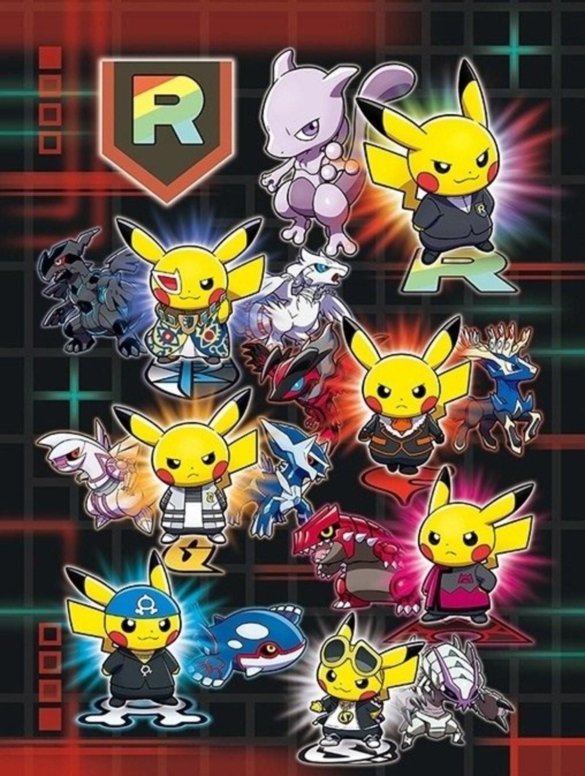 New Rainbow Rocket Pikachu merchandise coming soon. .. CYRUS PIKACHU I NEEEEEEEED IT