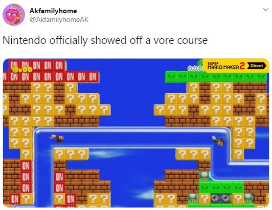 nintendo stahp. .. Ugh, it's even worse, one throws up into the other like some up mama bird