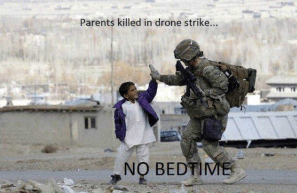 No bedtime!. join list: AntiWholesome (691 subs)Mention History. Parents killed in drone strike.... 20 years later.