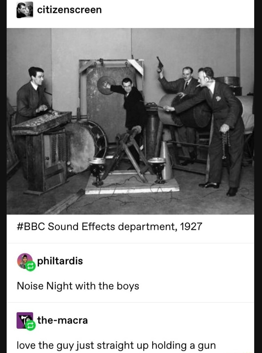 noiz. .. Look up Spike Jones on youtube, a lot more wacky stuff, plus he was on Hitlers hit list for a song he did about him