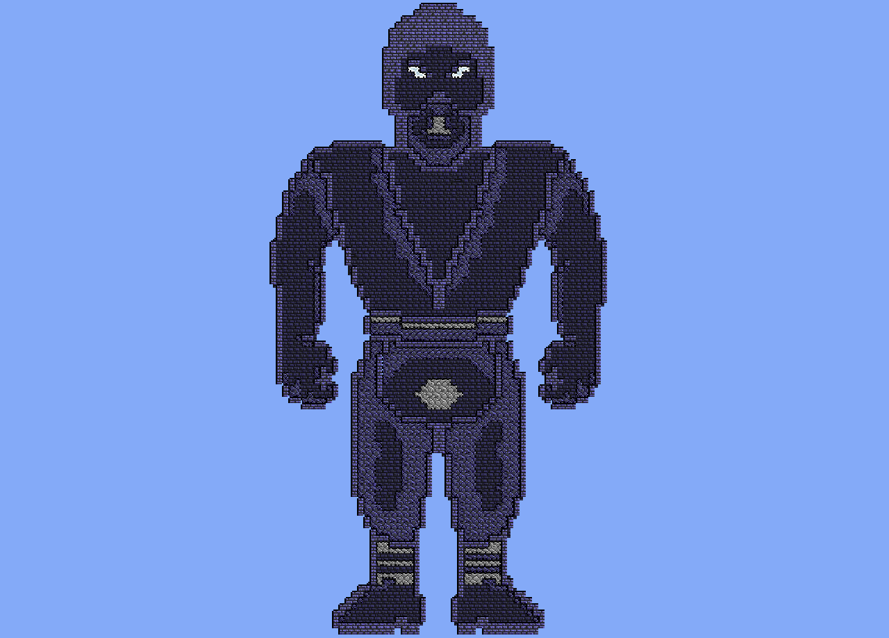 Noob Saibot Terraria Pixel Art. Roll for dubs with a pixellated pony or character and I will make it in Terraria. Please provide a pixellated picture. You get 2