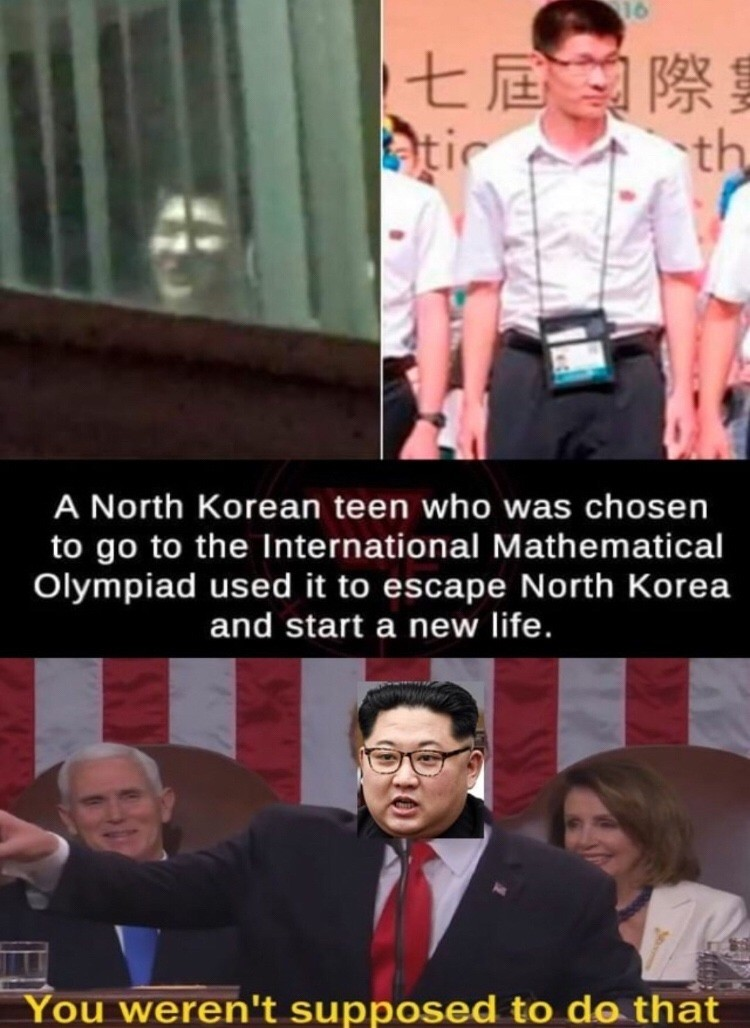 nope. .. And with that his family was sent to prison. What an horrible nation N. Korea is