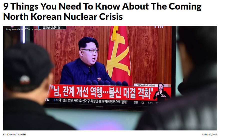 """North Korean Crisis: Things You Need To Know. Original Article Link: 9 Main Points: """"1. Former President Bill Clinton promised that North Korea would never"""