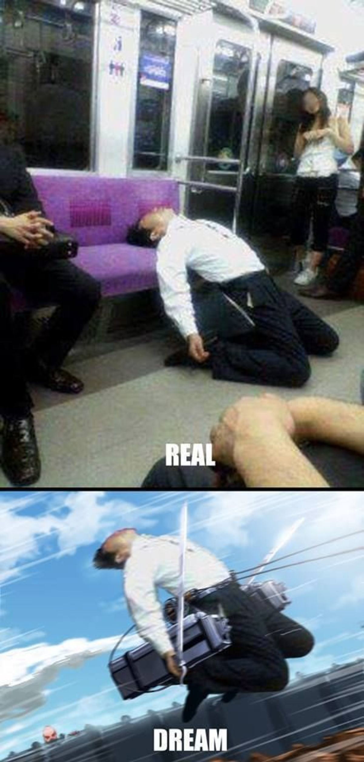 nostalgic accidental sincere Boar. .. Chinese local dabs on feminist haters by taking manspreading to a new level of power