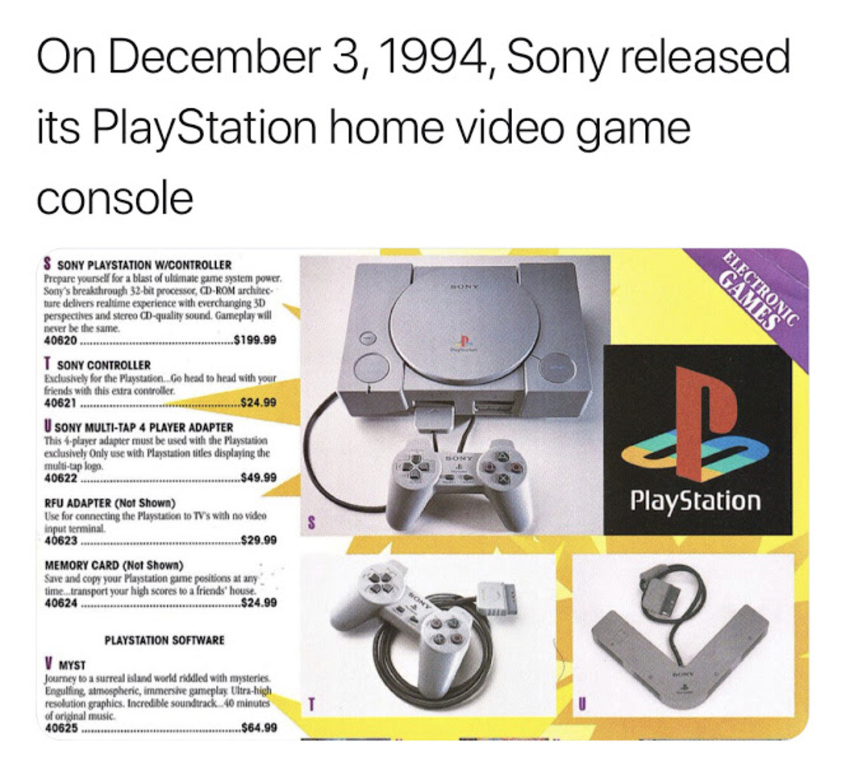 Not sure if this was already here. .. That can't be accurate can it? It seems really weird that I'd have had a console released before I was born