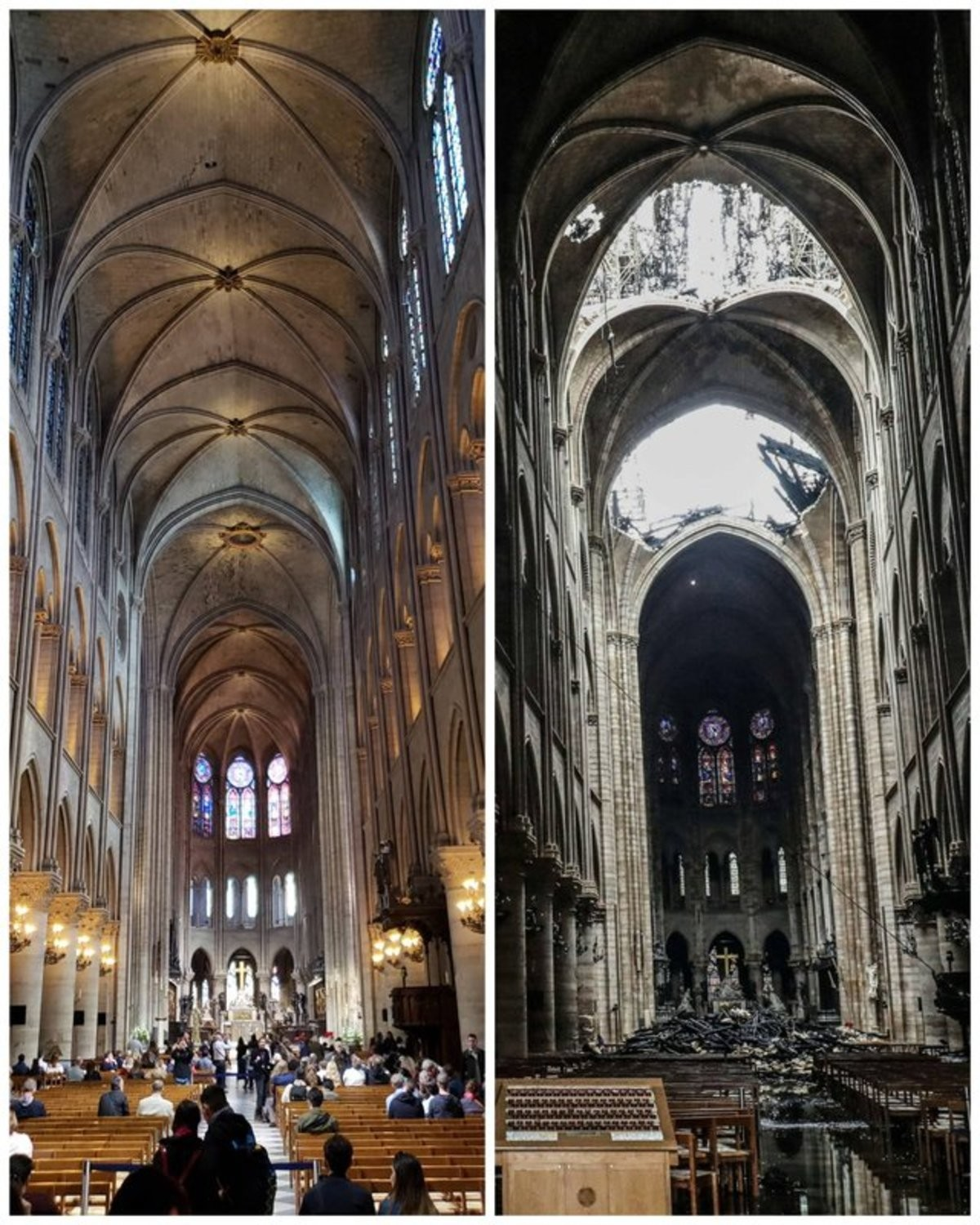 Notre Dame before and after. .. Zero to Detroit in less than two hours.
