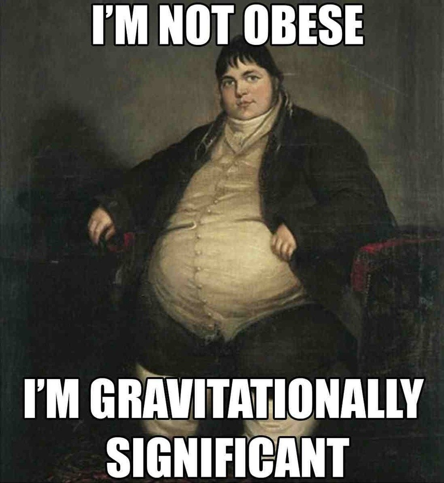 Obesity Sensitivity. . I' M NOT WISE. Well he's not wrong