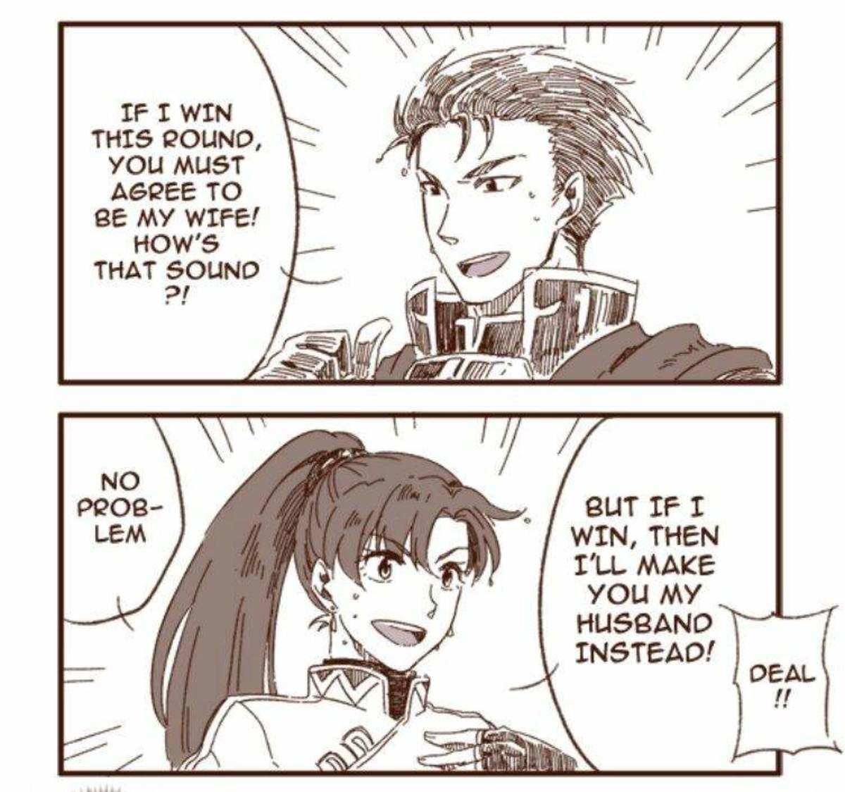 Of Waifu and Husbando. .. The twist is that they tied.
