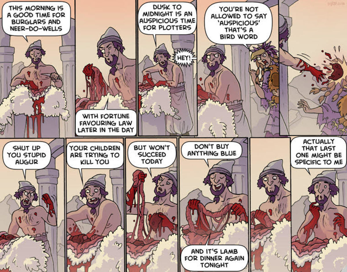 Oglaf / Your Daily Horuscope / Haruspex. join list: OglafComics (186 subs)Mention Clicks: 2851Msgs Sent: 4630Mention History.. Oglaf DND supplement book when