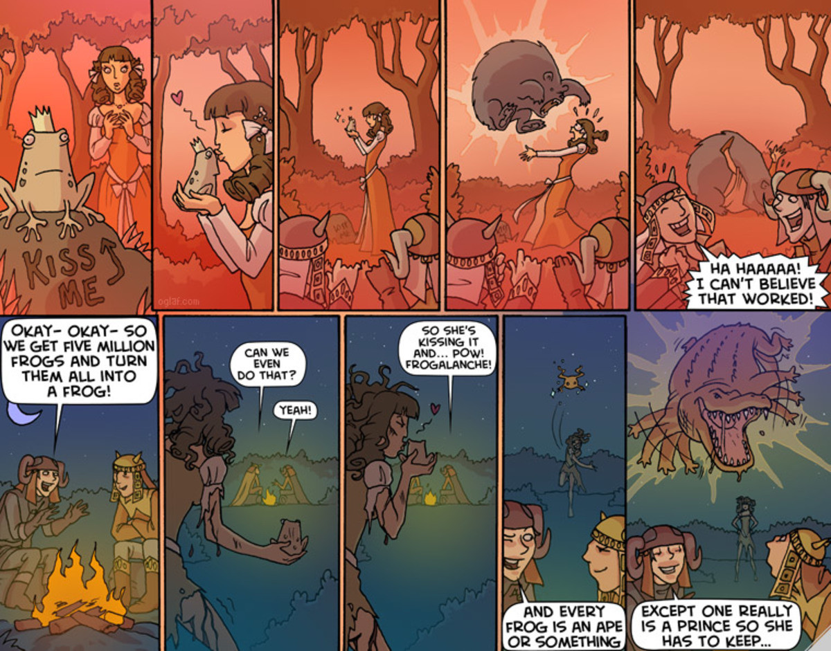 Oglaf. .. Oooh shes good, in doing a curse and using it on those who created it sounds like it's worth some coin