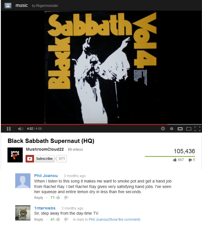 oh youtube. what are you doing? stop looking here!.. yea sabbath!!