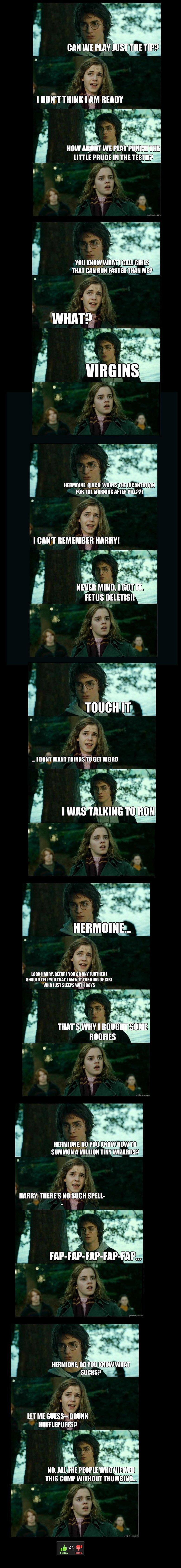 oh Harry. Another Horny Harry comp: . i [IAN WE MAY HIST THE TIP? wtt, I DON' T THINK iia READY i tir, I nun: WANT mkii' ti, an warm E I Jic, iii, I millar' . H