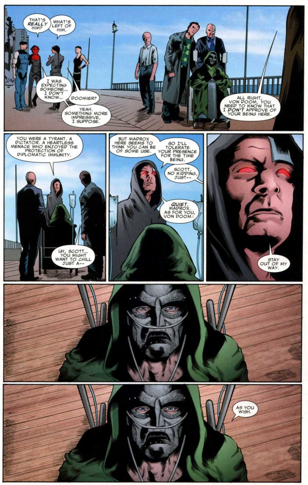 Old Man Doom. .. Best part is I can't tell if there's explosive tech in the gauntlet or he figured out magic at some point. Doom is the best.