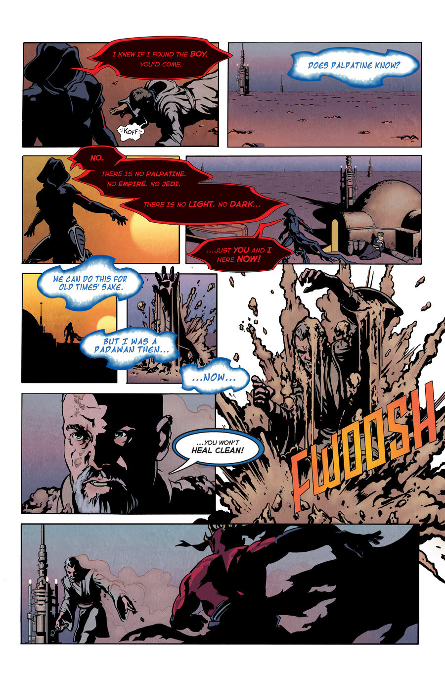 Old Wounds. Source is Star Wars Visionaries. join list: StarWars (4 subs)Mention History .. Is this cannon? If so, it would be pretty anti-climatic for someone like maul to just die after like 5 pages of a comic. Pretty sure this comic was made specifi