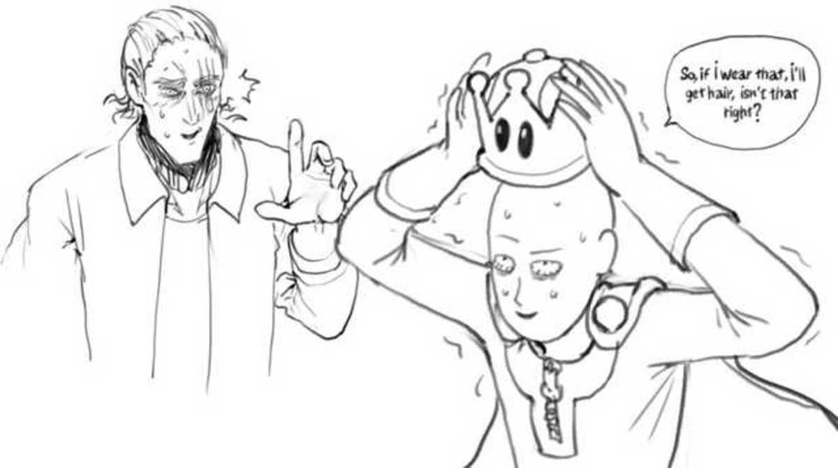 OPM Super Crown. .. maybe a cure for his hair but the result...well...