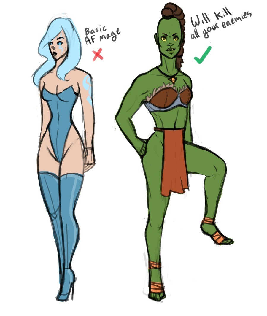 Orc waifu > everything else, a PSA. Orc women are the only reason I even care to live art is art. I'm new here but I kinda like the site, anyone care to post th