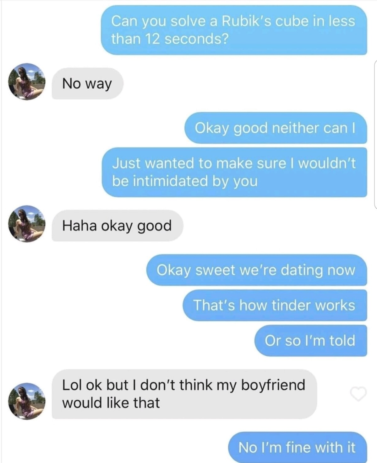 overconfident hateful Dugong. .. >In a relationship >On tinder Reaching peak levels of degeneracy here