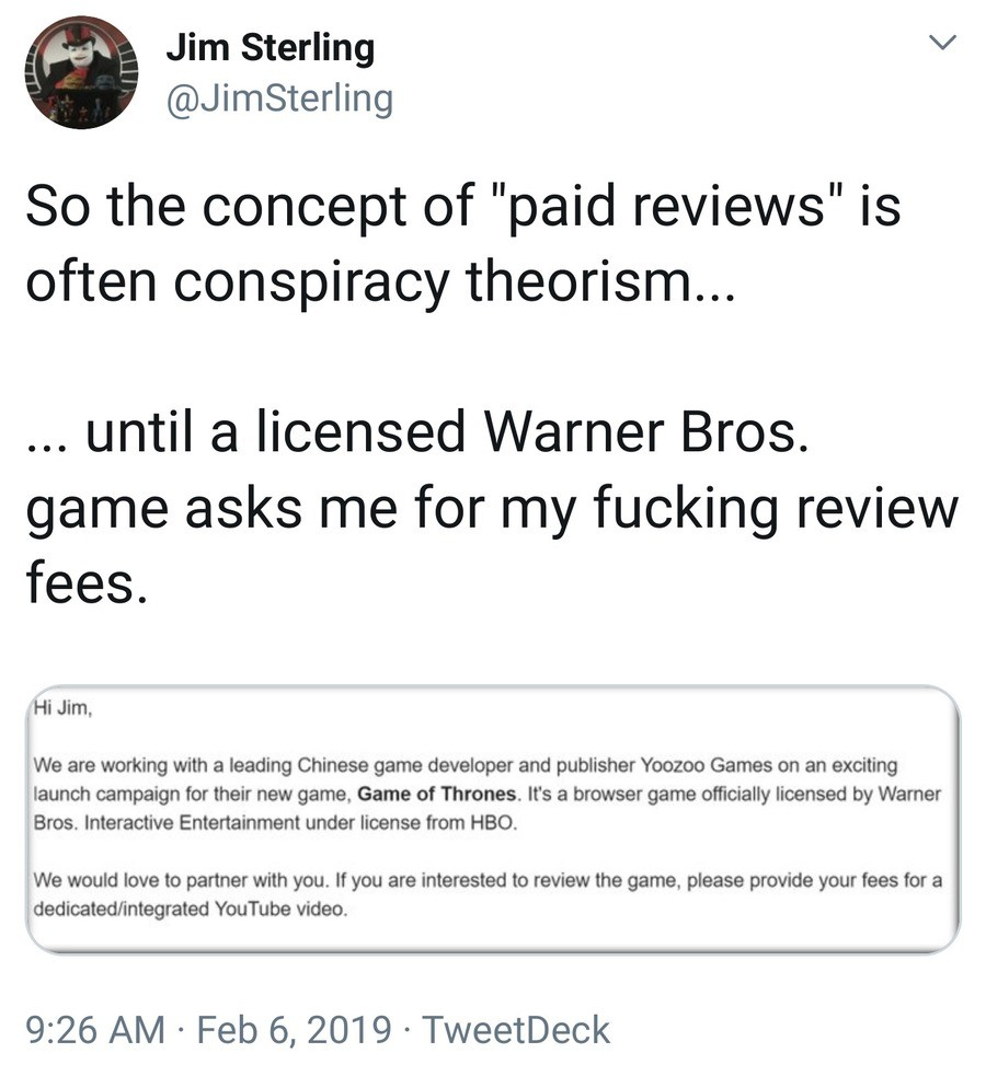 Paid reviews. .. If they're paying you for an honest review and not a praise-piece, I don't see anything wrong with this. Review the game honestly, take your money and go on, th