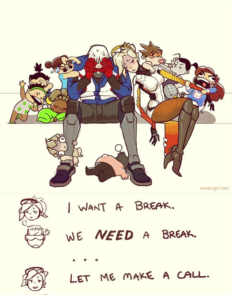 want a break