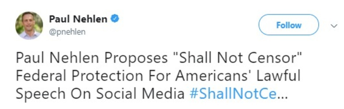 Paul Nehlen on Censorship. A politician I can get behind. He has a video announcing it here: https://twitter.com/pnehlen/status/941370447278440448 And below you