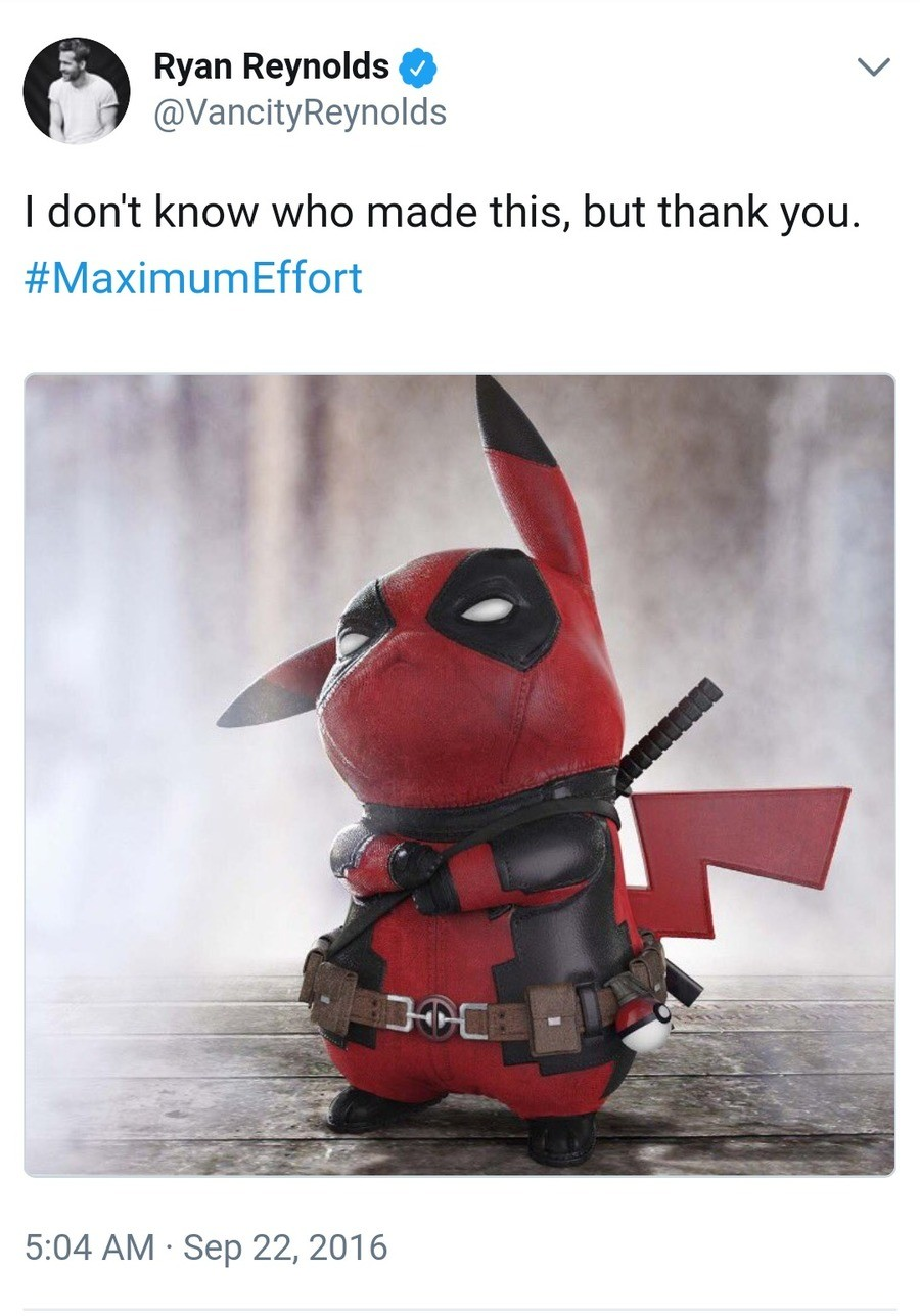 Pikapool. .. cannot wait to hear the references in Deadpool 3
