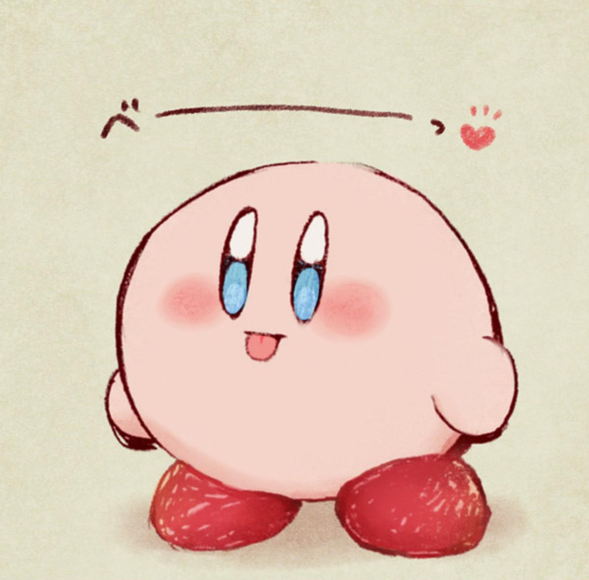 Pink guys weird adventures. .. Cutest ball of destruction ever