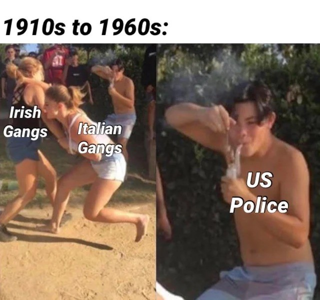 police. .. There were jewish gangs too