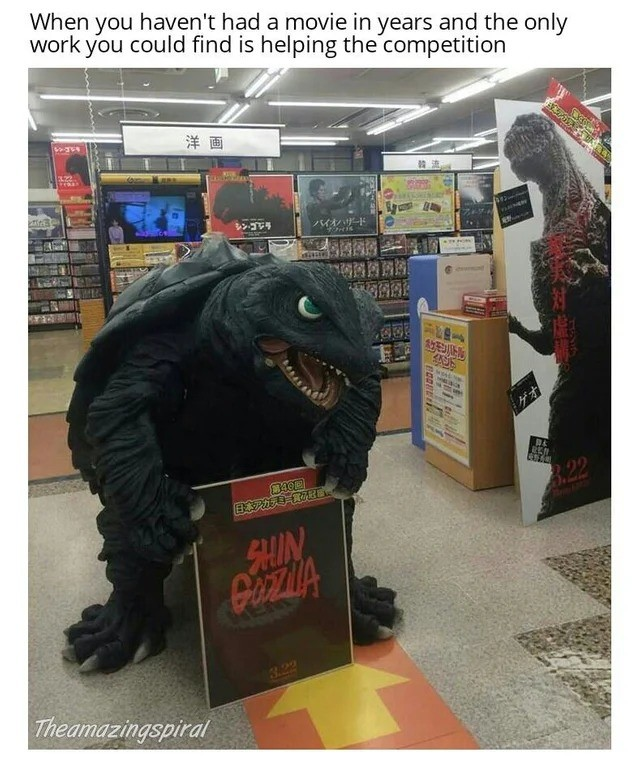 poor...poor gamera. .. There was almost a 2016 Gamera movie no idea why it fell through. They used some of the filmed footage for a commercial but i never heard anything else about it