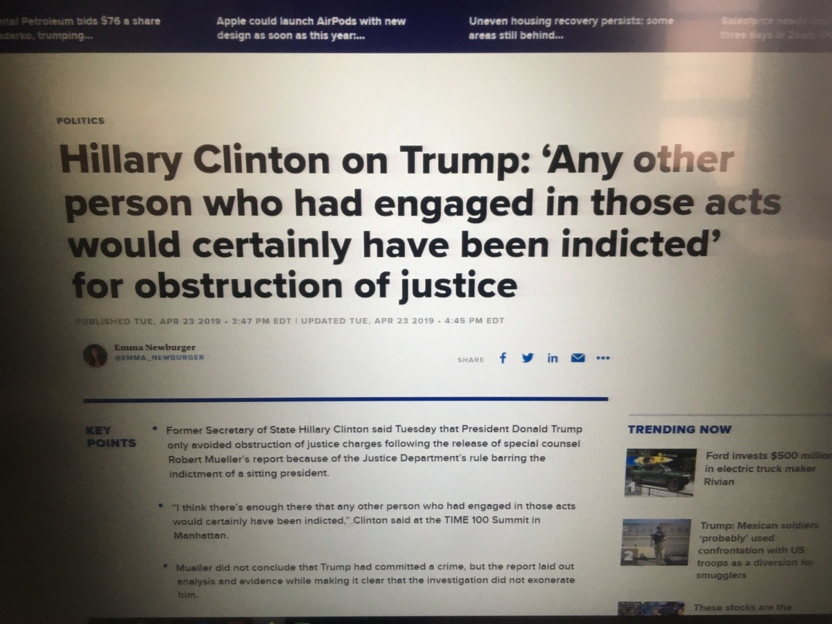 Pot, meet kettle. Did she really just say that? Bold statement from someone who isn't completely out of the woods yet themselves... Really? Last time I heard she openly bragged about obstructing justice by destroying physical evidence