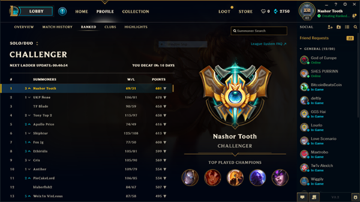 PowerOfEvil hitting Rank1 in NA. . ogod' CHALLENGER mats It Ital'! sat I LEI Hui] Muller Tooth. gonna need like 10 more pixels, at least.