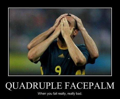 Quadruple Facepalm. . QUADRUPLE when kiari fail ream, really trad.