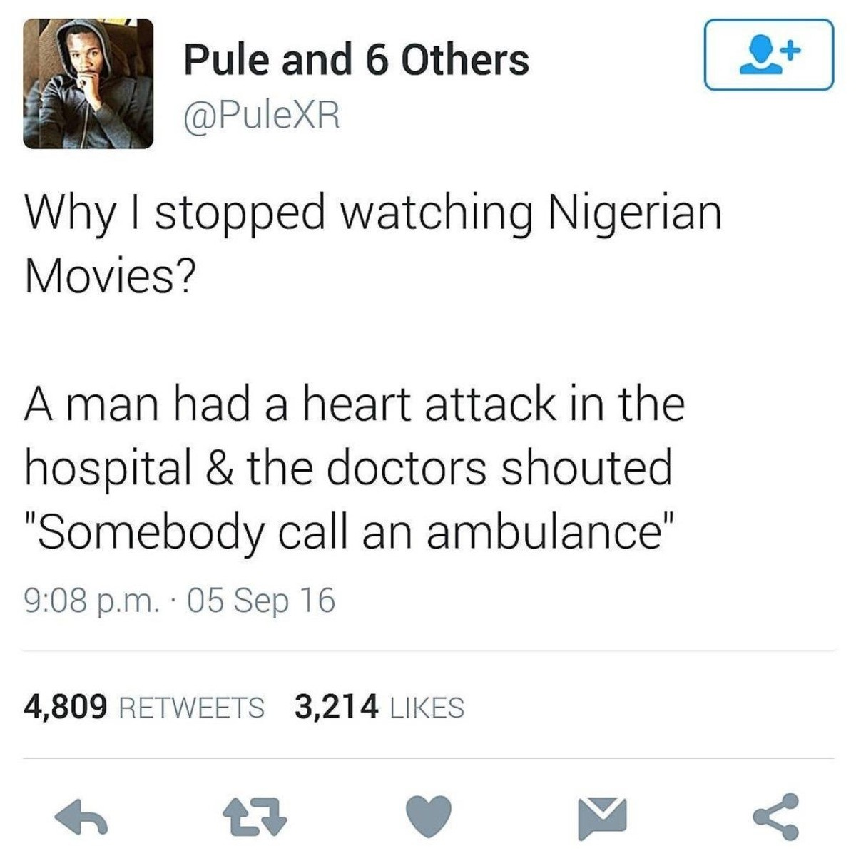 Quality Writing. .. I'm sorry, that sounds like a reason to start watching Nigerian movies