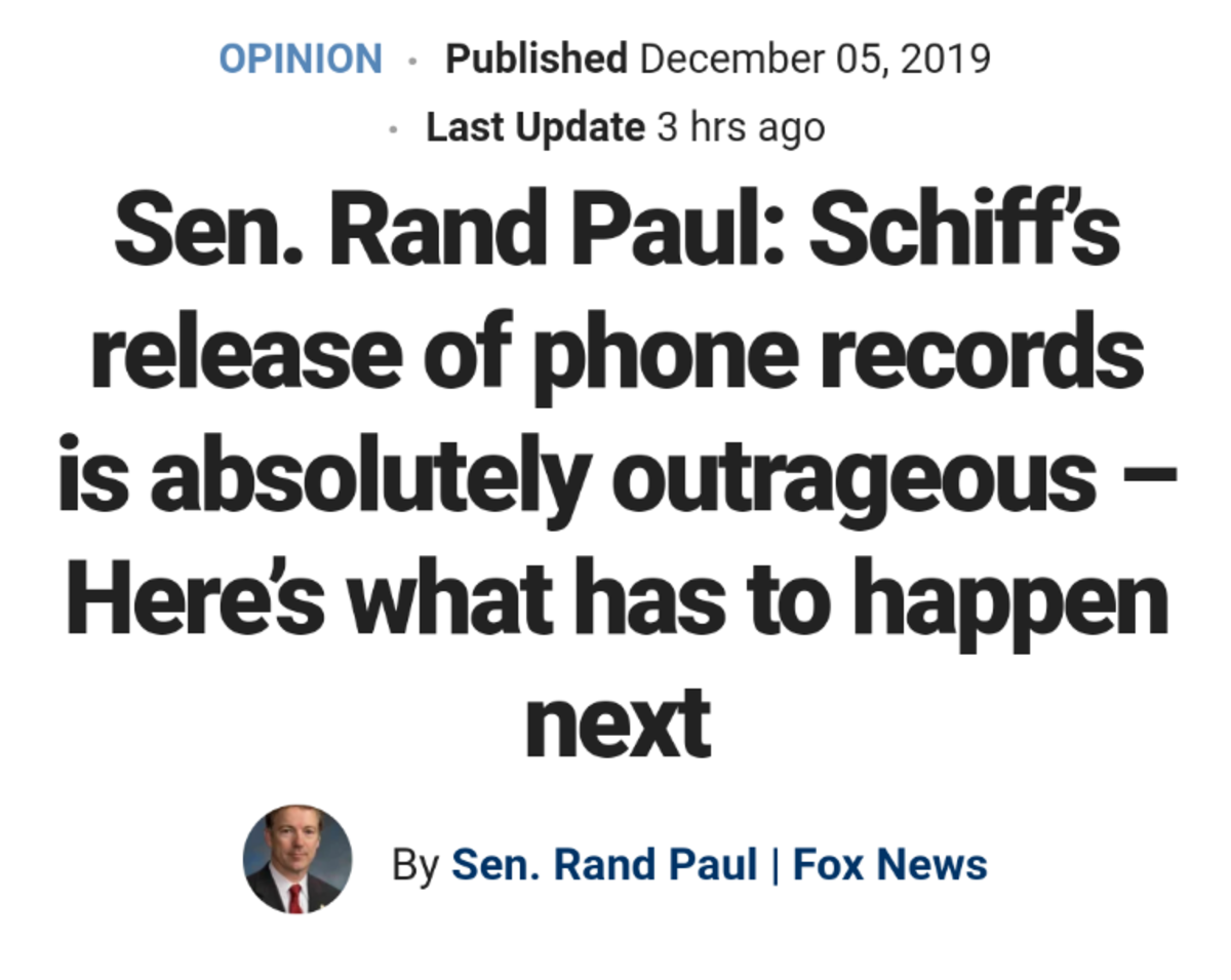 Rand Paul calls out Schiff!. Great Editorial by Rand. It's a long article, this is a snip. Rand 2024... Making their own rules ignoring due process.