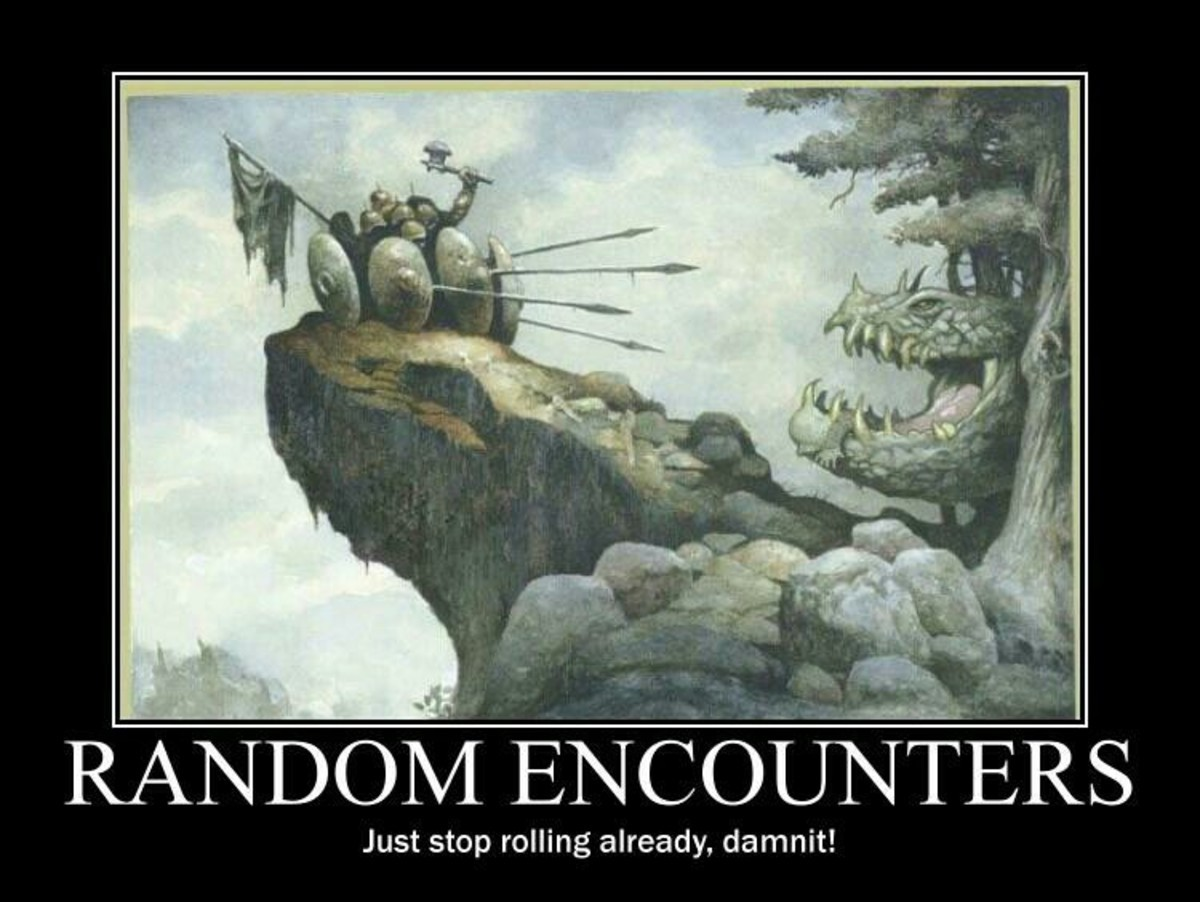 Random encounters. join list: DnDStuff (1297 subs)Mention History Who you encounter and must kill... golliath rolled user farted Imma stab u