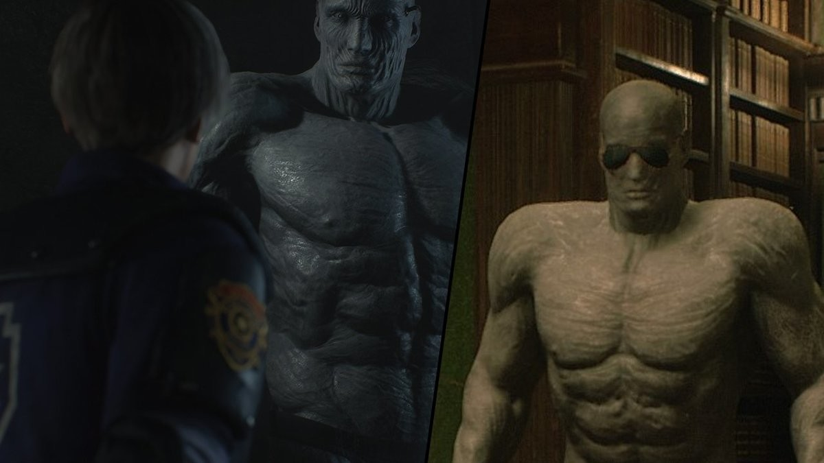 RE 2 Tyrant. When I think about it I'm glad that It was Mr.X following us around the Police Station and not this: Imagine instead of hearing footsteps from Mr.X